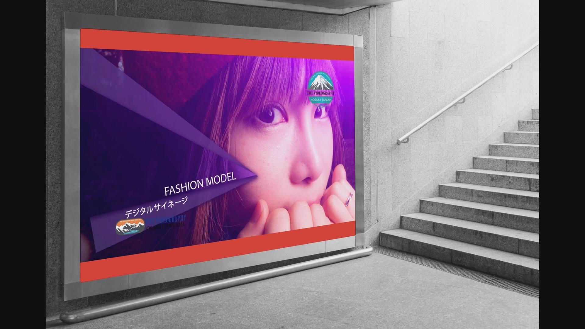 Digit signage for Fashion Show・ファッションショー向け デジタルサイネージ動画制作